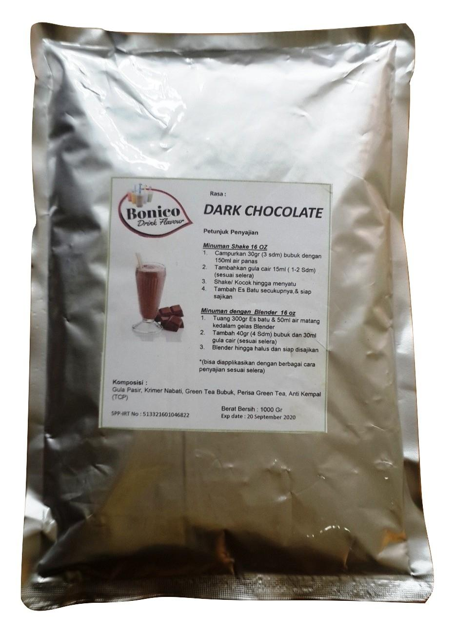 BONICO DARK CHOCOLATE Powder 1kg Bubuk Minuman Drink Flavor Powder ice blend milk shake COKLAT HITAM Orimoto Mart