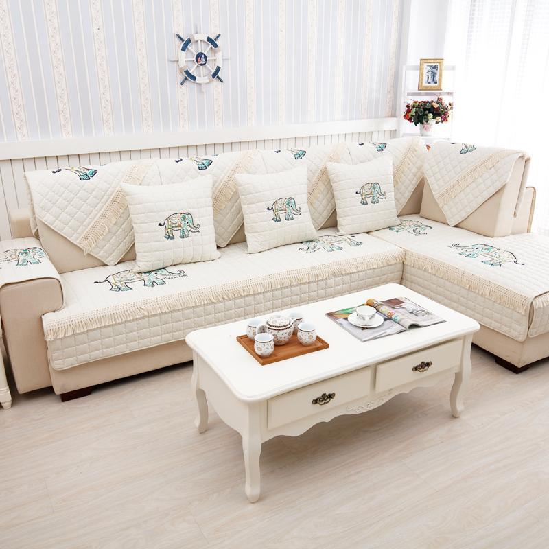 Bisa Dipakai Empat Musim bantal sofa set Nordik katun murni Kain modern minimalis ruang tamu rumah