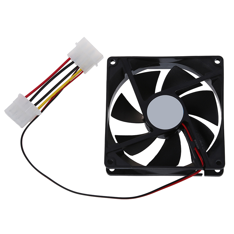 DC 12V 4 Pin Black Plastic PC Cooling Fan 90mm x 90mm x 25mm Singapore