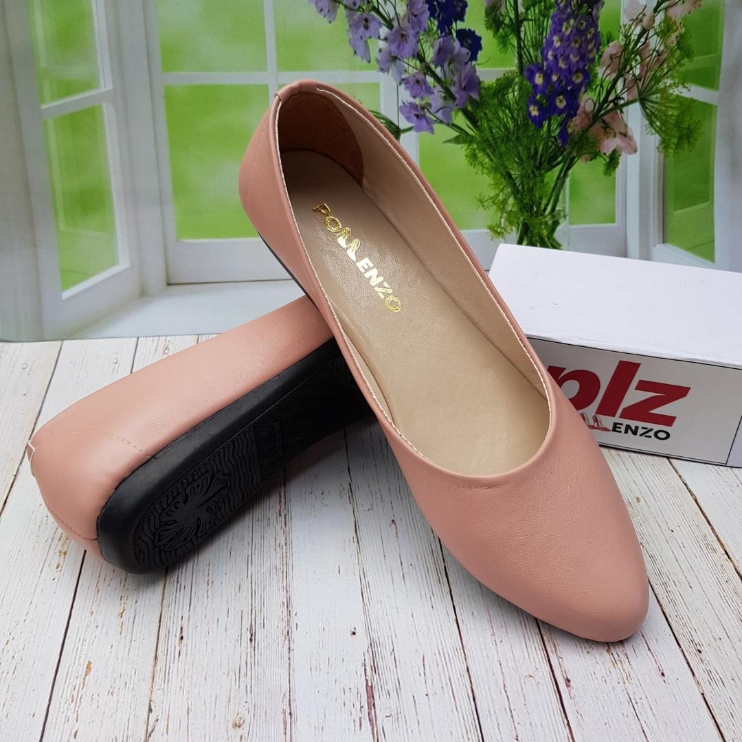 Pollenzo ~ ALBANI Sepatu Wanita Flat Shoes Polos / Sepatu Balet Sol Karet