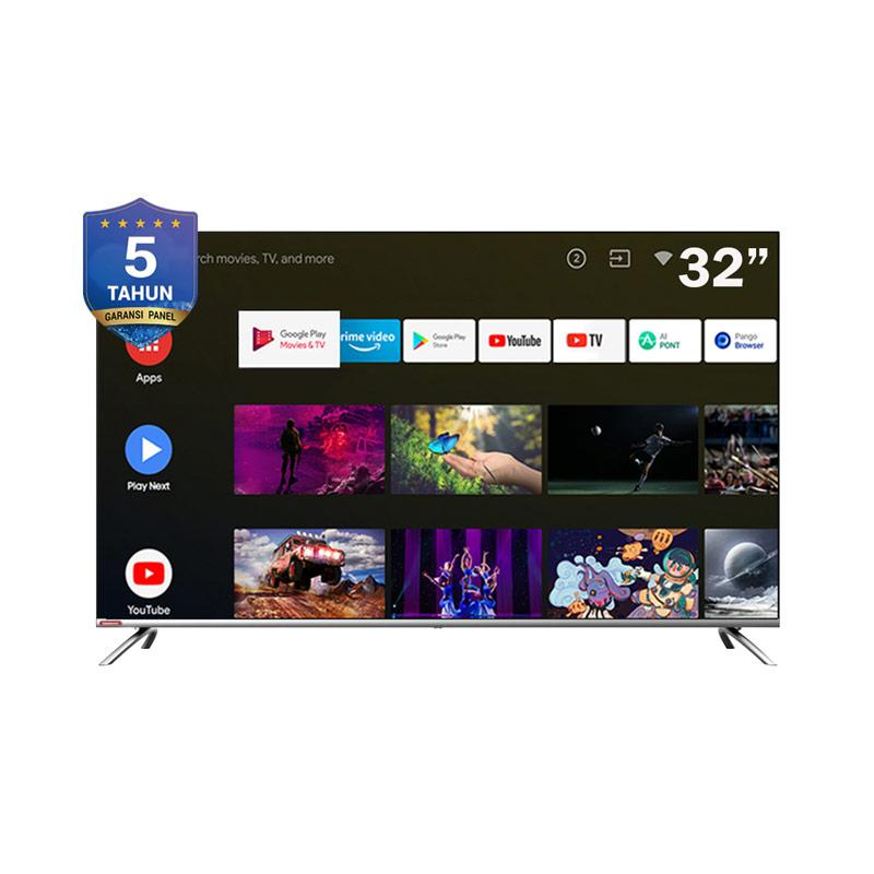 Changhong L32H7 LED Smart TV - Silver [32 Inch/ Google Certified/ Android]