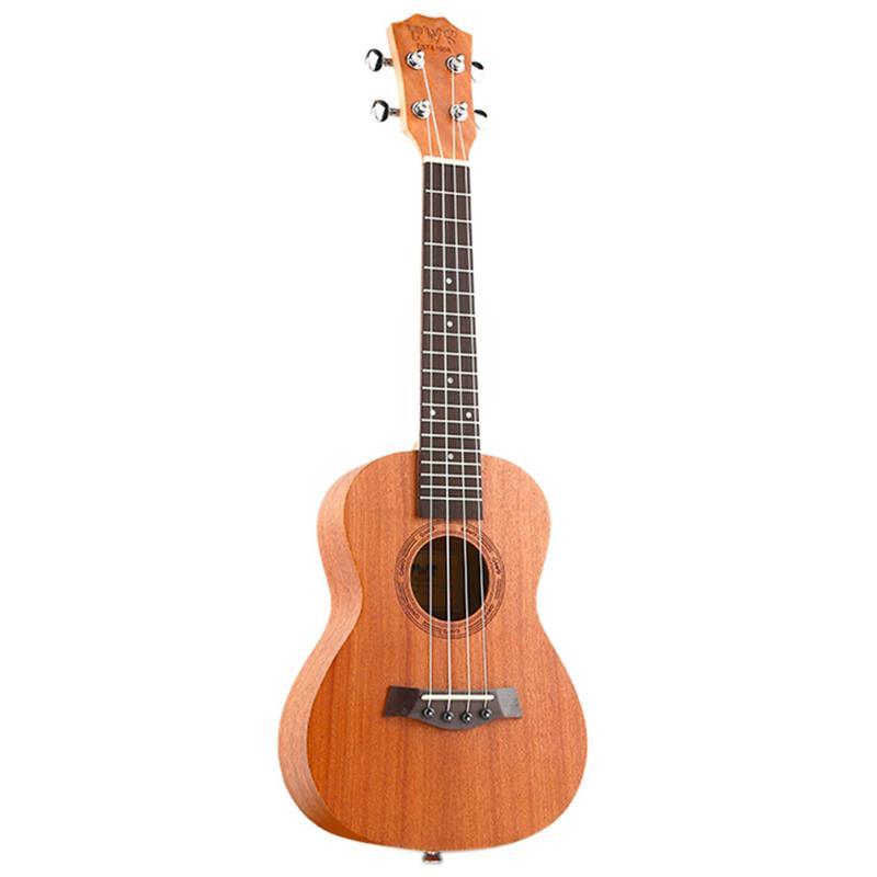 Bws Est & 1988 26 Inch Mahogany Wood 18 Fret Tenor Ukulele Acoustic Cutaway Guitar Mahogany Wood Ukulele Hawaii 4 String Guitar