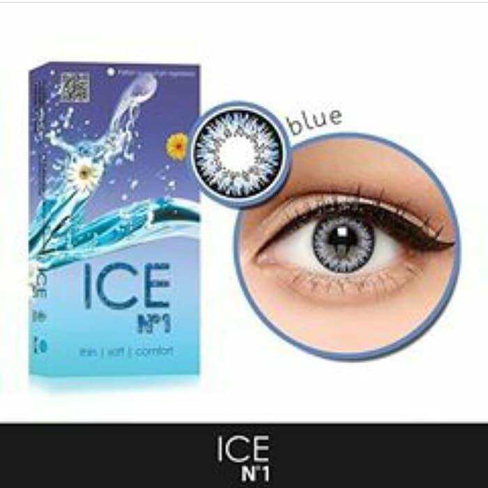 BEST SELLER Softlens / Soflen / Softlense Ice N1 Blue 6 Bulanan - blue normal - FLJdNQcL