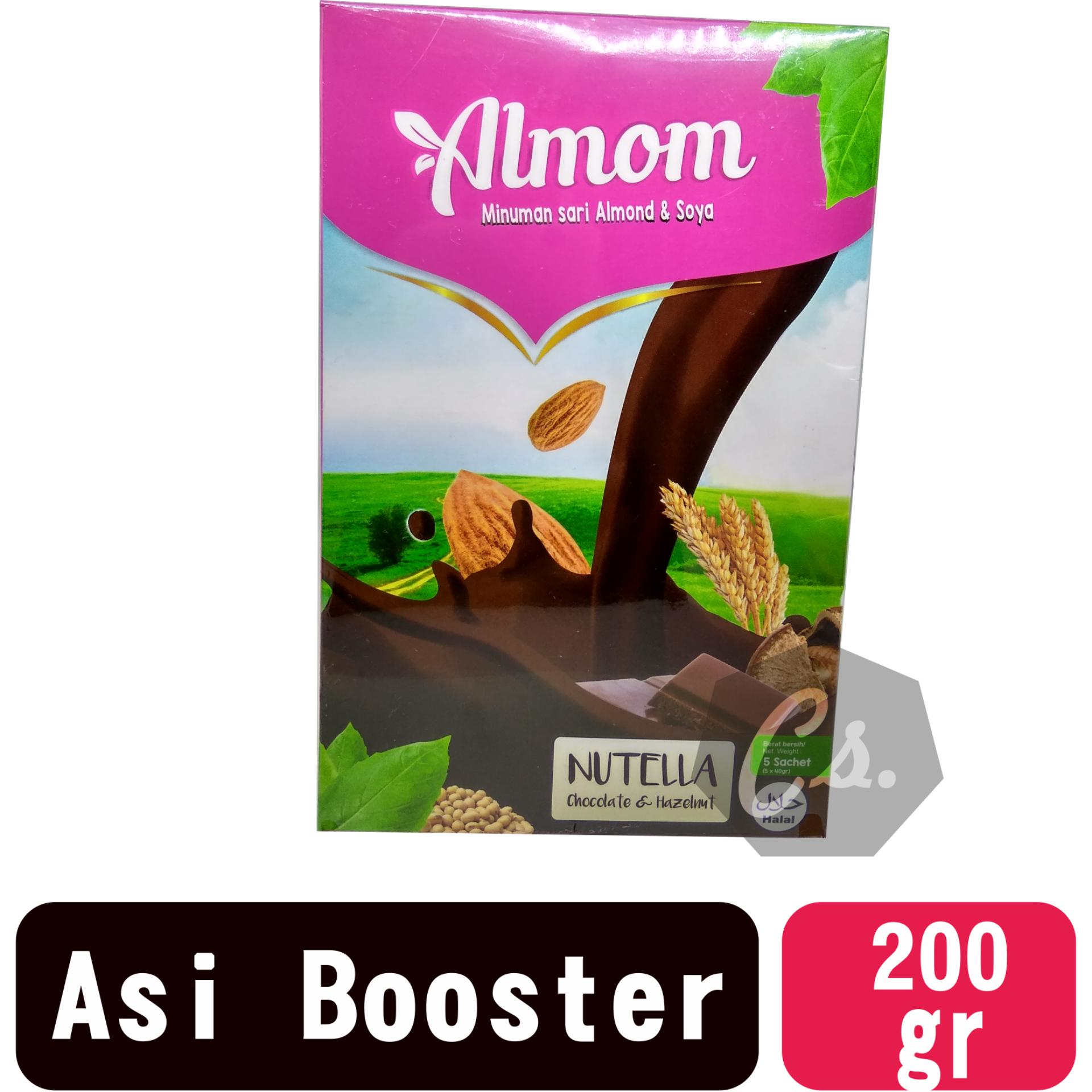 Almom - Rasa Nutella - Minuman Sari Almond dan Soya - Asi Booster / Pelancar Asi
