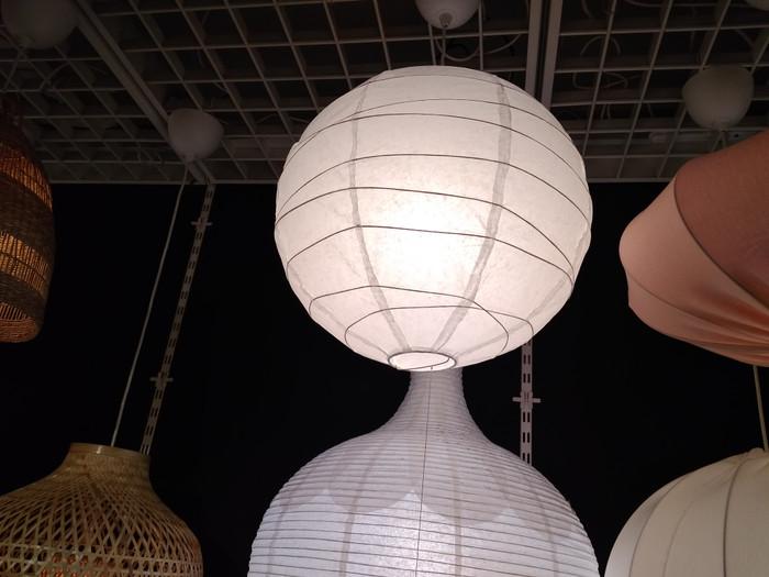 Ikea Regolit Kap Lampu Gantung Bulat Dia 45 Cm Putih Bahan Kertas Lampu Gantung Ruang Tamu Minimalis Cafe Modern Tidur Hias Plafon Teras Depan Rumah Makan Unik Korea Dewasa Dinding Cowok Keren