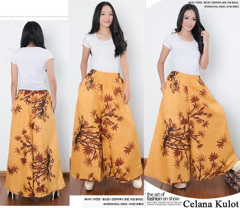 Cj collection Celana kulot batik rok panjang wanita jumbo long pant Fabiola