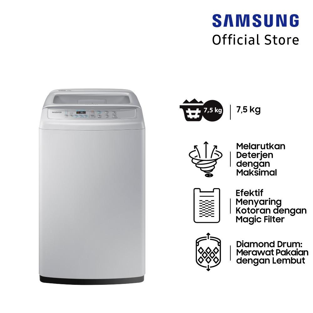 Samsung Mesin Cuci Top Loading dengan Diamond Drum, 7 Kg - WA75H4200SG