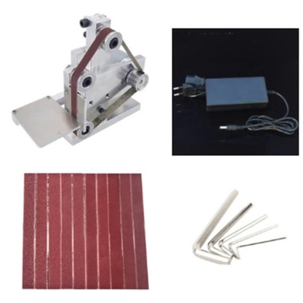 DIY Mini Belt Sander Bench Mount Grinder Polishing Grinding Machine Buffer Electric Angle Grinder