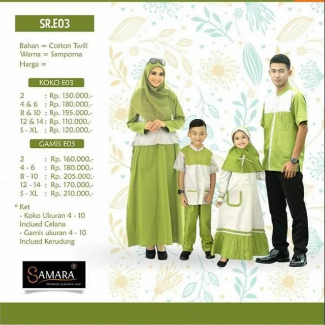 Keluarga/Couple Keluarga/ Branded/ Samara/SRE/SAMARA (gamis 12-14)