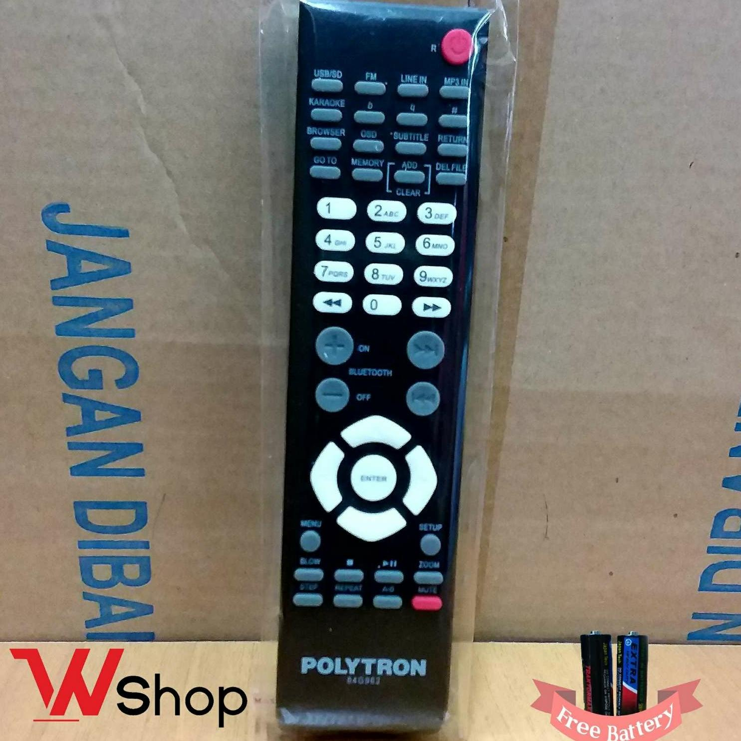 REMOTE/REMOT TV LCD LED TABUNG POLYTRON ORI/POLYORIGINAL