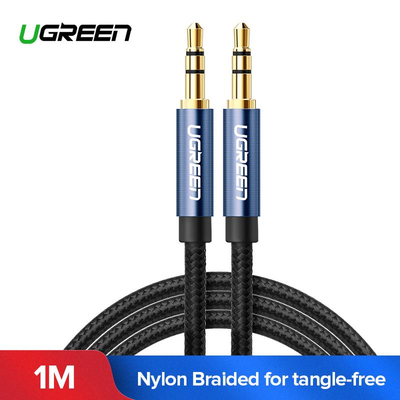 UGREEN Original Kabel Audio 1Meter 3.5mm Jack Audio Cable Gold Plated 3.5 mm Male to 3.5mm Male Aux Cable for iPhone Car Headphone Speaker Radio Auxiliary Cable