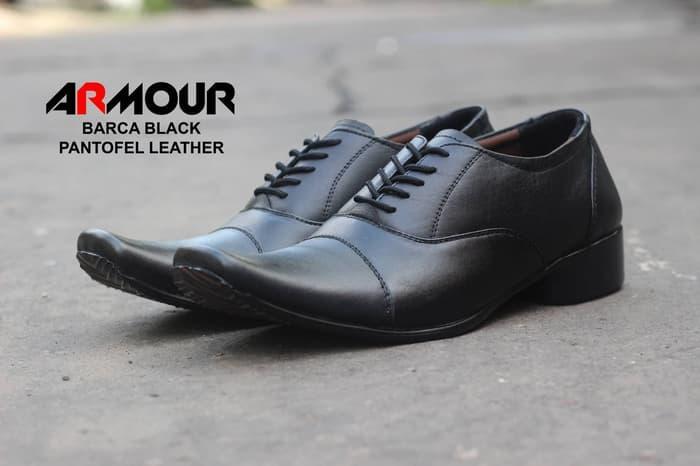 Sepatu Pantofel Tali Kerja Resmi Kulit Asli Formal Kantor Pesta Pantopel Anak Muda Sekolah Kuliah PKL Magang Kondangan Vintage Oxford Armour Original
