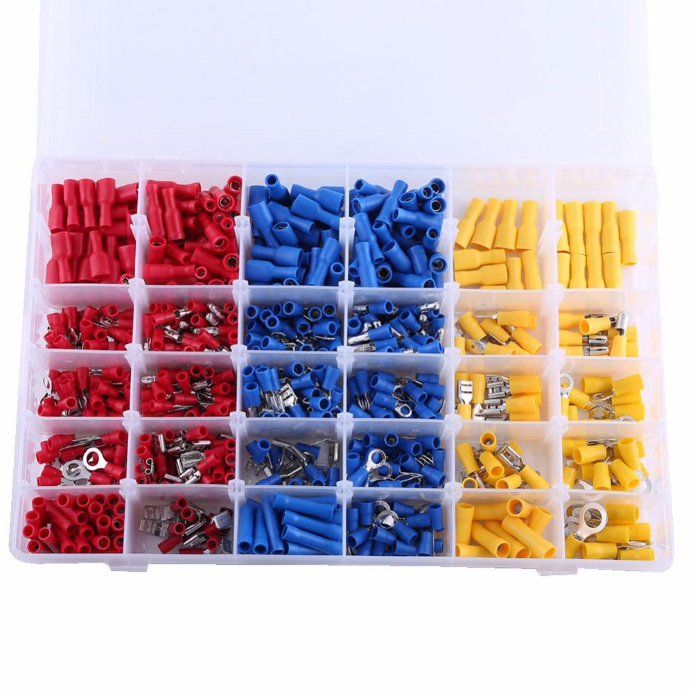 RD 720Pcs Assorted Insulated Electrical Wire Terminals Connectors Kits