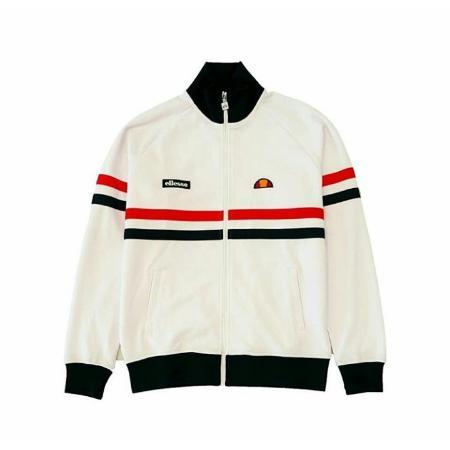 Tractop Jaket Pria Tracktop Ellesse Putih Casuall Premium