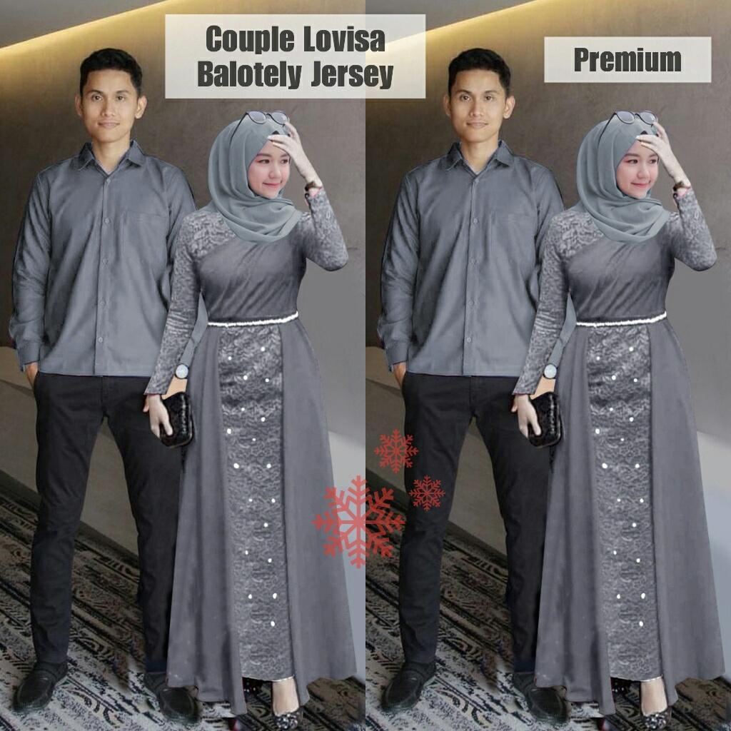 LX- Cp Lovisa / Pakaian Couple / Baju Muslim / Baju Pasangan / Baju Couple Muslim