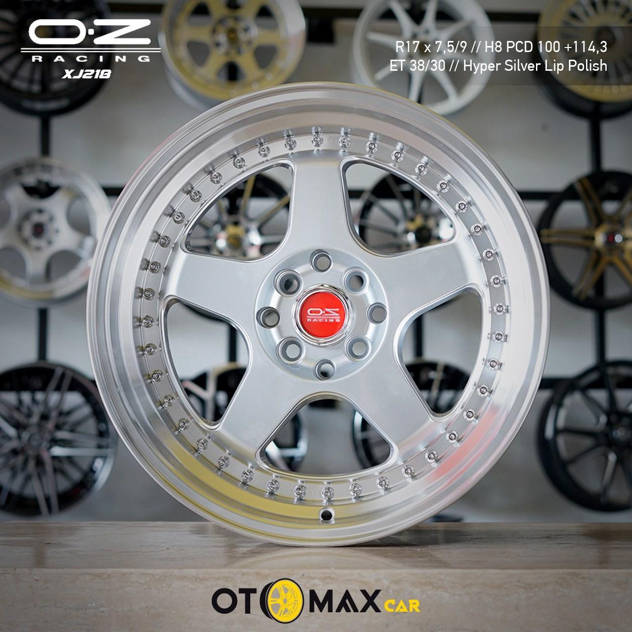 Velg Mobil OZ Racing XJ218 Ring 17 Hyper Silver Lip Polish