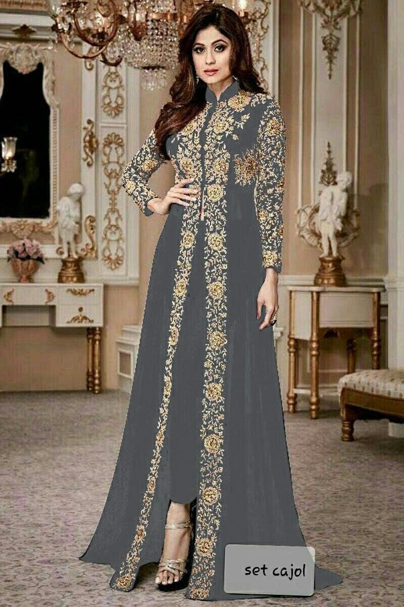 Grosir Hasanah Set Cajol   Gamis India Terhits 2019   Gamis Kombi Bordir  Fashion   9f314fc554
