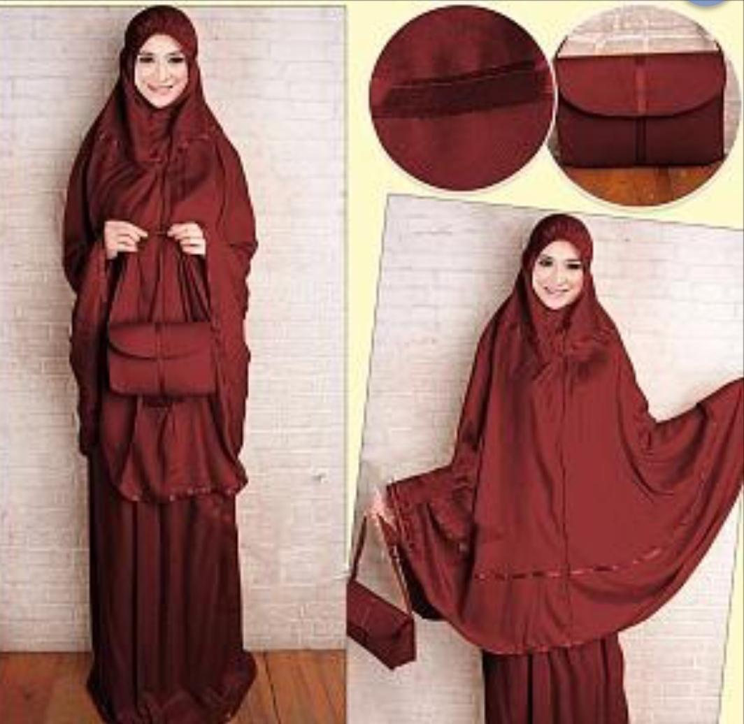 Bisa Bayar Di Tempat (COD)mukenah dewasa mukena muslimah sarung perlengkapan shalat katun rayon sakura
