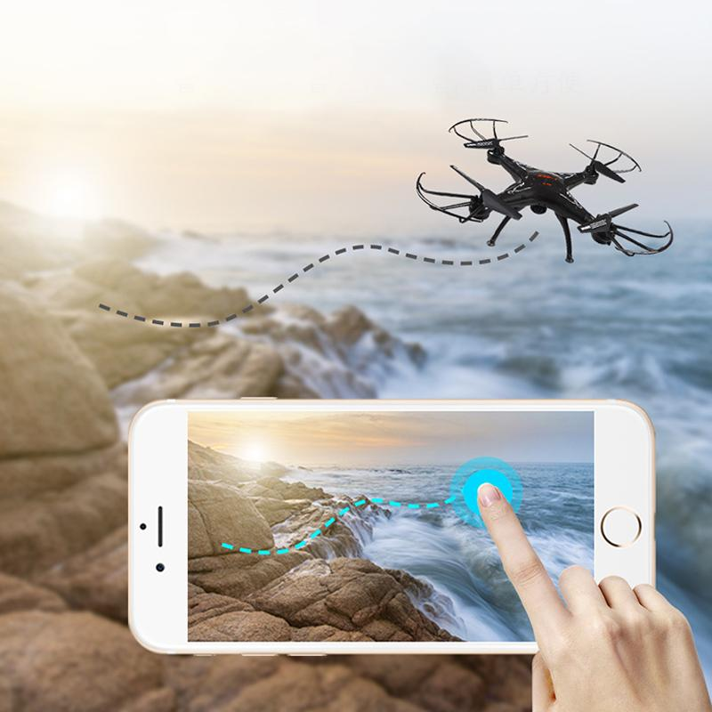ABH Helikopter X5C Pesawat Empat Sumbu Drone Pesawat WIFI Waktu Nyata Pengendali Jarak Jauh