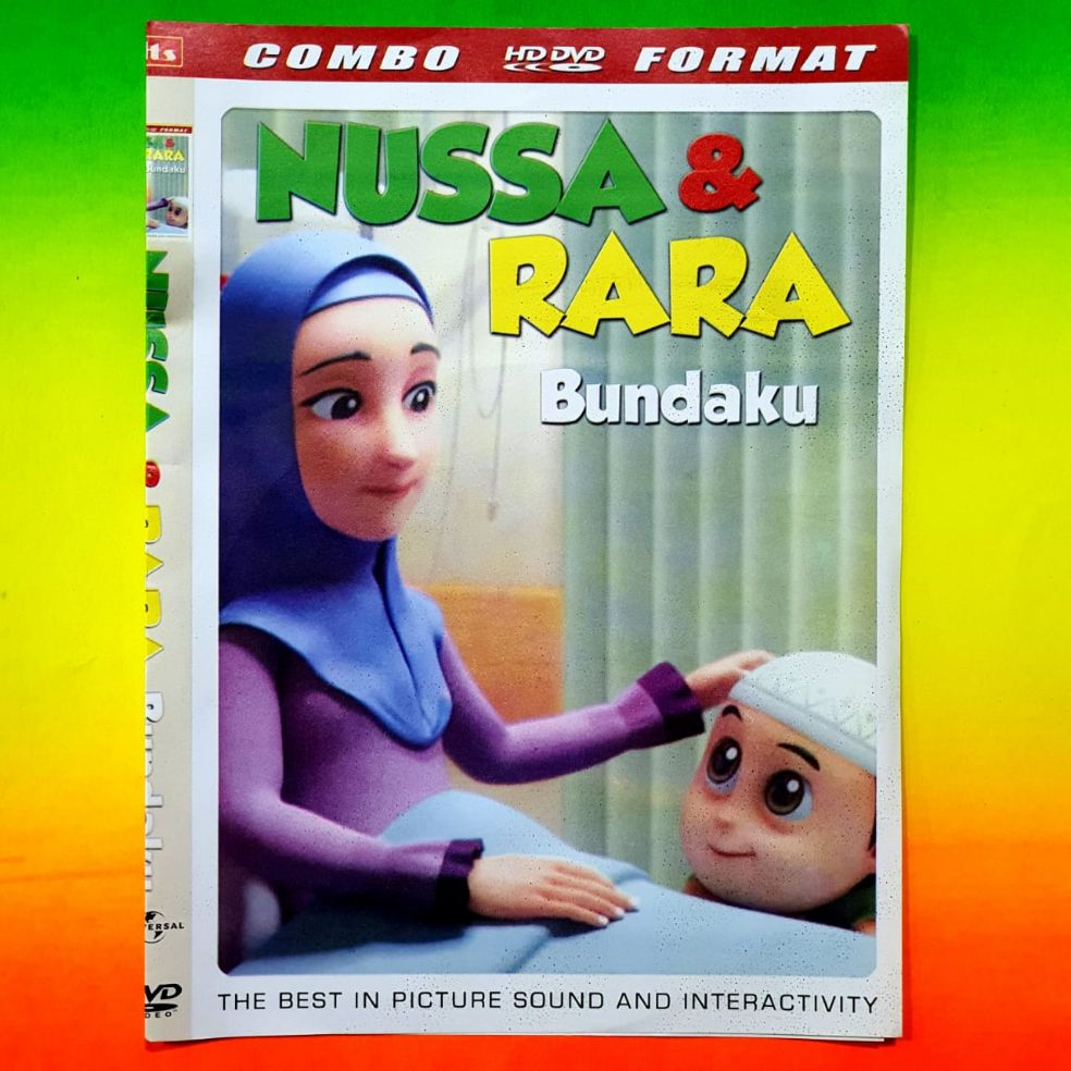 Kaset DVD Film Animasi Kartun Anak anak Nusa & Rara Bundaku   DVD ...