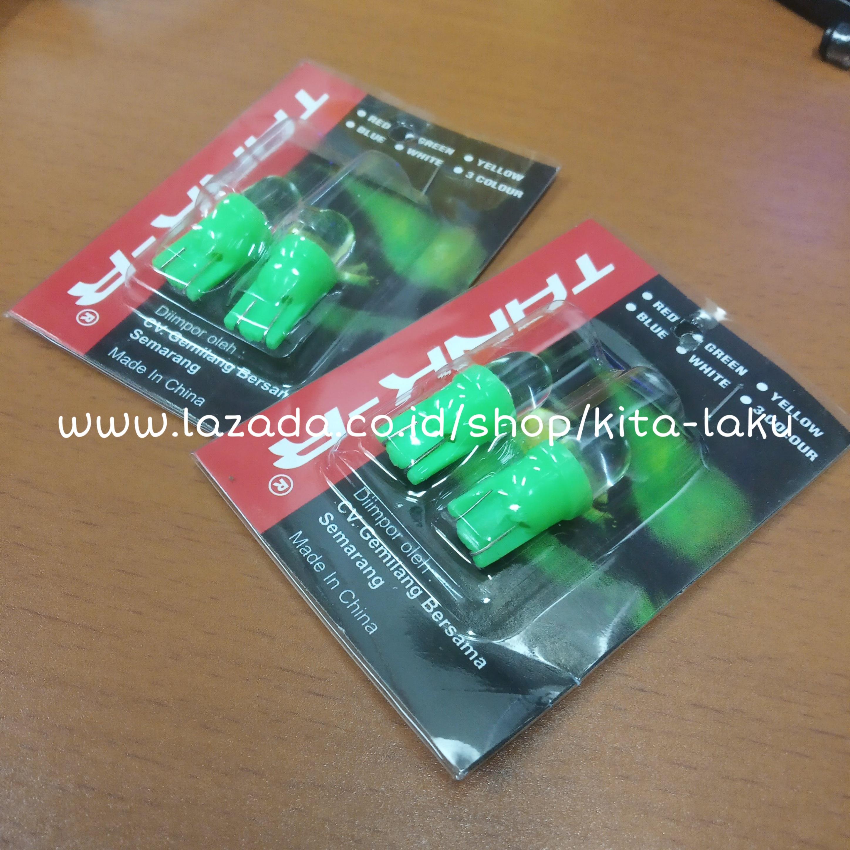 4 PCS Lampu SEN 7 Warna - Lampu Sen 7 Warna T10 Colok Kelap Kelip Kedap Kedip Variasi Lampu Sein Motor ( ISI 4 PCS )