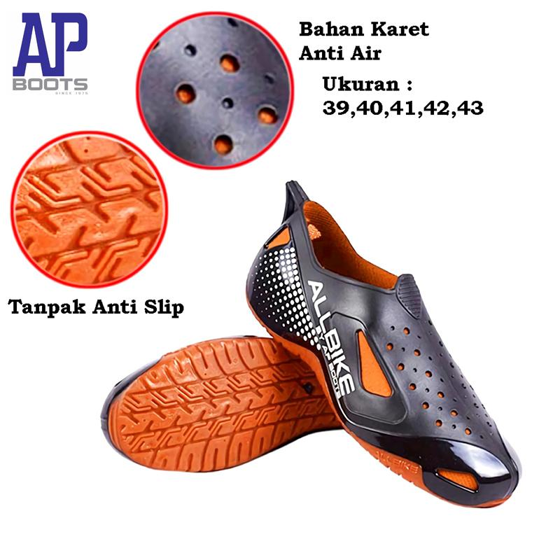 ALL BIKE Sepatu Slop  Uk. 39-43  Outdoor Shoes Sepeda Motor AP e64c01dfc7