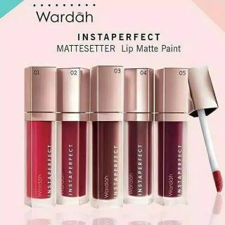 BISA BAYAR DITEMPAT TERLARIS Wardah INSTAPERFECT MATTESETTER Lip Matte Paint LipCream thumbnail