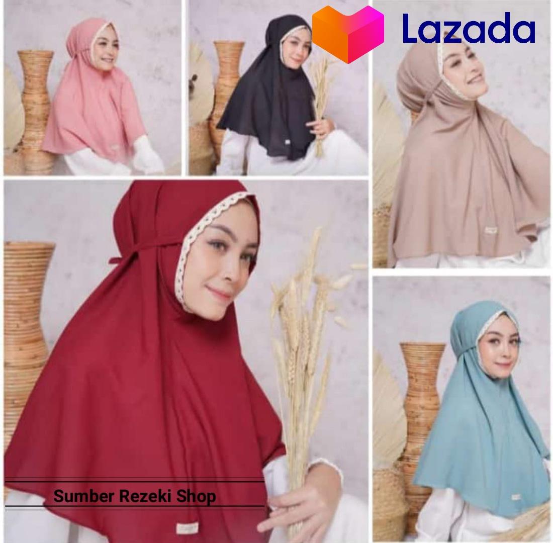 New Hijab Bergo Maryam Renda Jilbab Instan Hijab Instan Bergo Maryam Renda Warna Terlengkap Bahan Jersey Lazada Indonesia