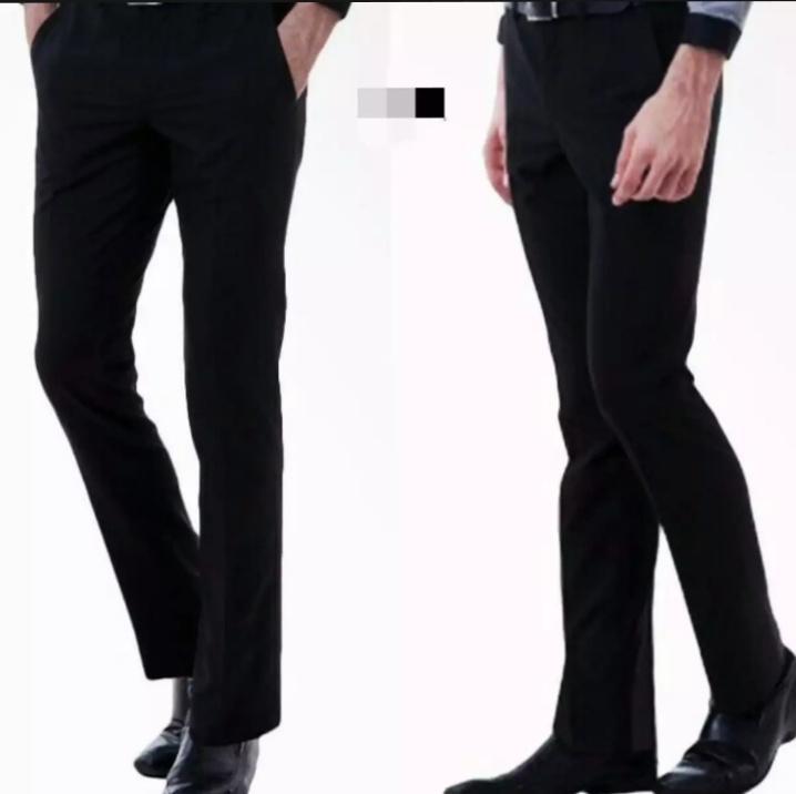 Celana bahan pria formal slimfit wol hitam   Celana bahan pria kerja  slimfit wol hitam 5f7a3f61c8