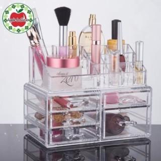 Rak kosmetik Akrilik Laci Tempat Make up Akrilik Storage Box Acrylic - [ RLQS 17 ] thumbnail