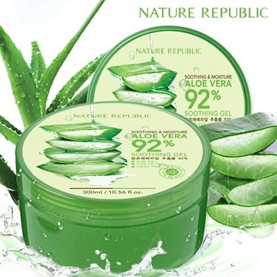 NATURE REPUBLIC Aloe Vera 92% Soothing Gel - 300ml (APC) | Lazada Indonesia