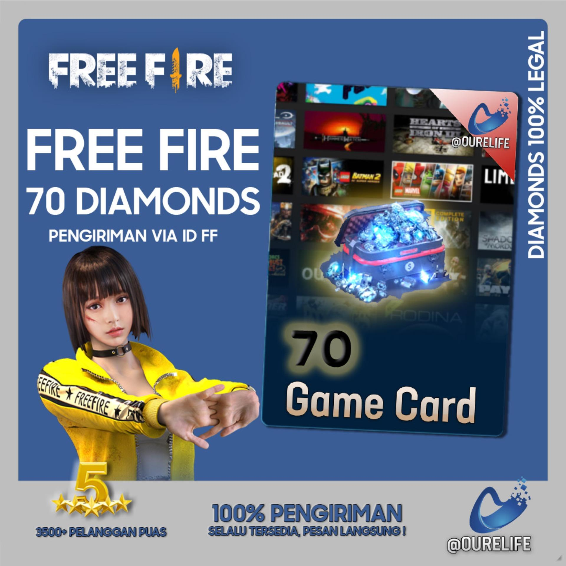 Top Up 70 Diamond Free Fire By Ourelife.co.id.