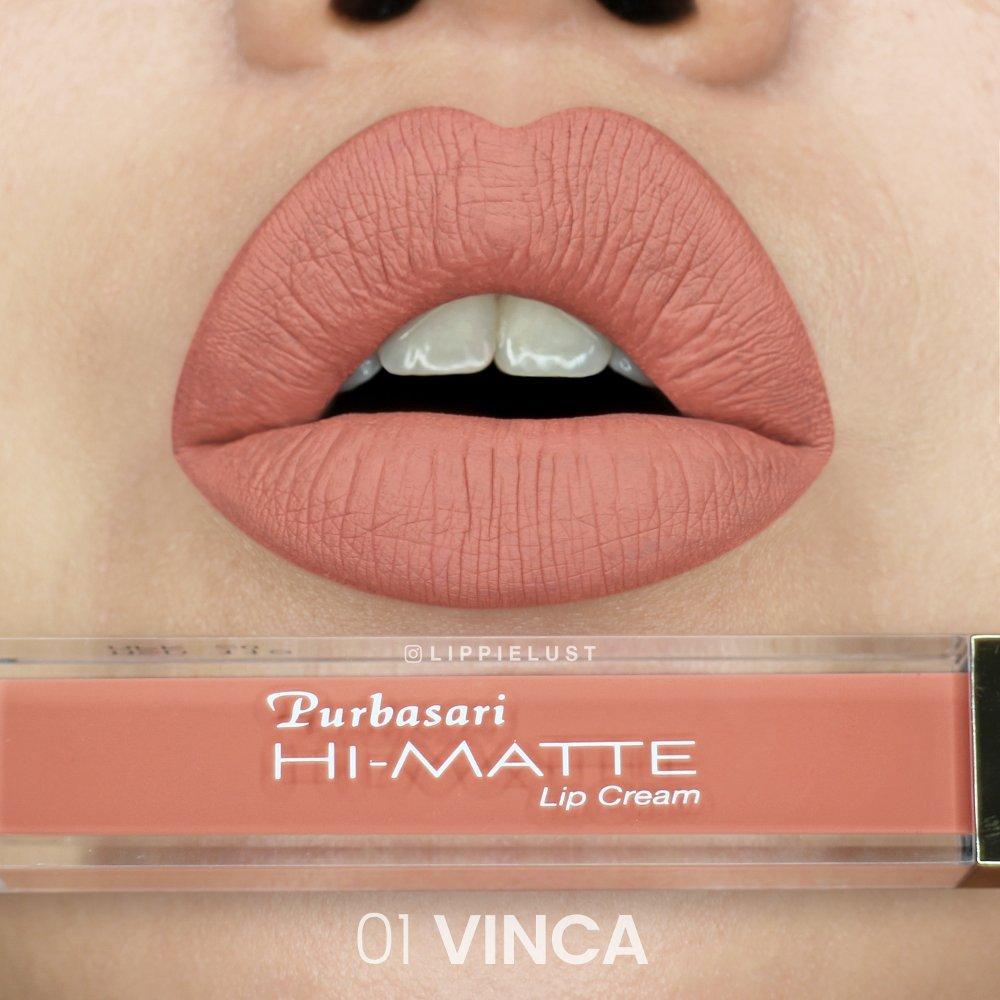 Purbasari Hi-Matte Lip Cream Hydra Series - 01 Vinca