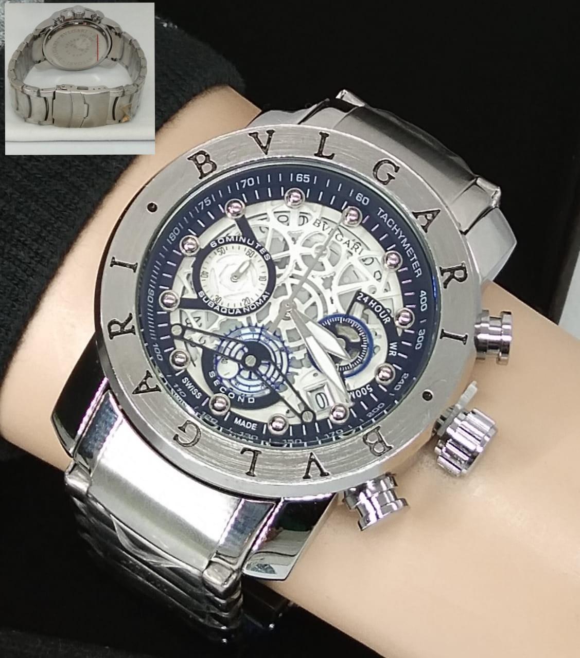BISA BAYAR DI TEMPAT (COD) Jam Tangan Pria BVL-GAR1 ORIGINAL TaLi Rantai (Stainless Stell) jam tangan model baru,jam tangan keren Limited edition (CRONO & TANGGAL AKTIF)