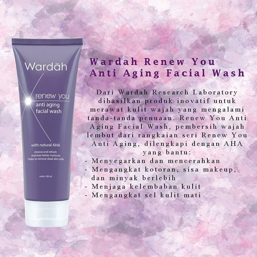 Wardah Renew You Anti Aging Facial Wash 100ml Lazada Indonesia