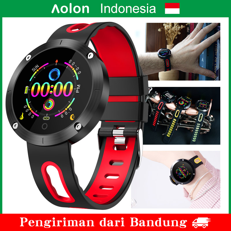 【Ready Stock】 【Bandung】 Aolon DM58 Plus Smart Watch, Smartwatch tahan air IP68, Monitor Denyut Jantung Tekanan Darah, Pria Wanita Hadiah ulang tahun paling populer Sport Fitness Watch untuk Android Apple IOS iPhone