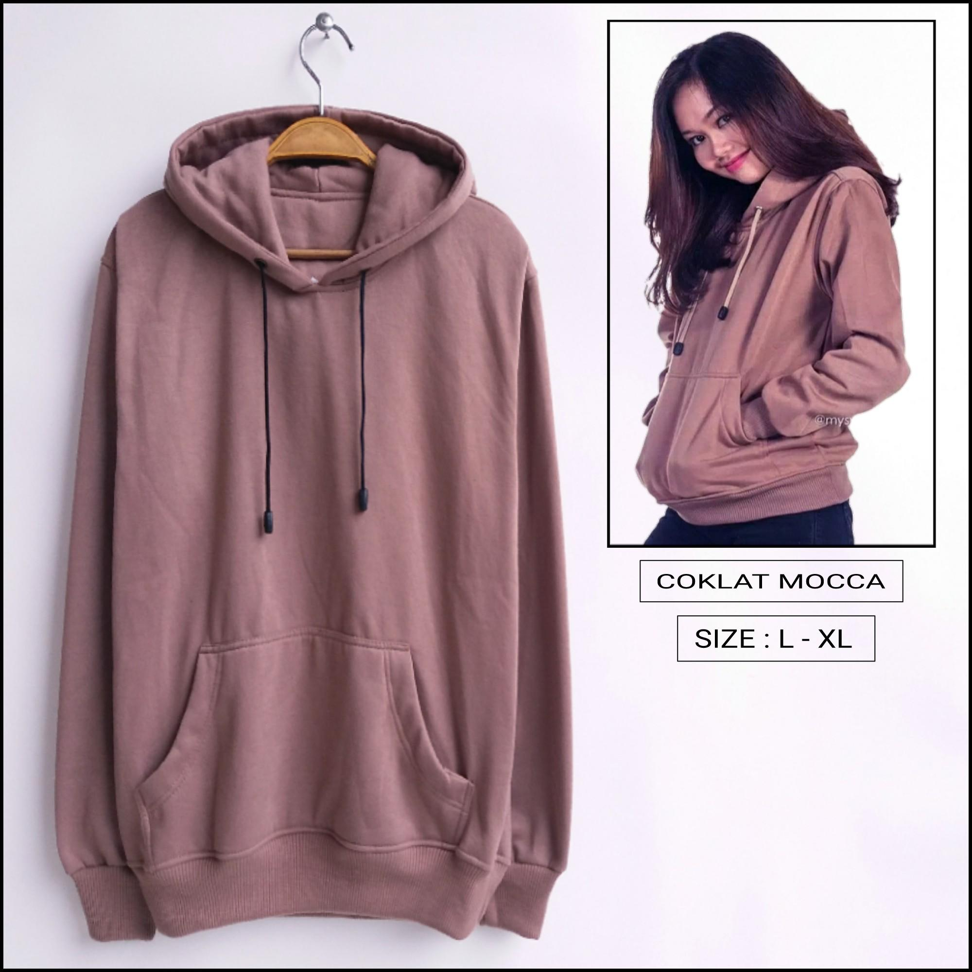 SWEATER HOODIE JUMPER POLOS COKLAT MOCCA 5c745ea3bc