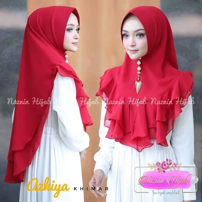 LAGI DISKON !! Jilbab Khimar Syari Ceruti Azkiya Khimar Rempel Terbaru Termurah Best Seller Diskon Muslimah Fashion Promo Wanita Hijab Jilbab Ramadhan
