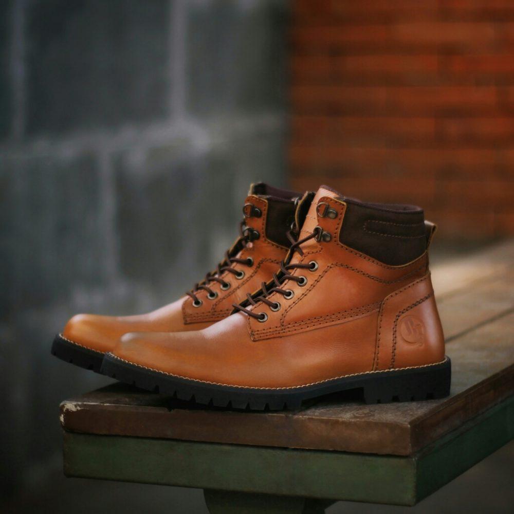 Sepatu Boots Casual Kulit Pria REYL MAN Original Safety Pria Ujung Besi Rock Rocker Rockport Rock n Roll Touring Pria Motor Biker Jenggel
