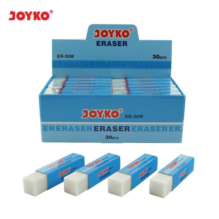 Eraser / Penghapus Joyko ER-30W / 1 BOX 30 PCS