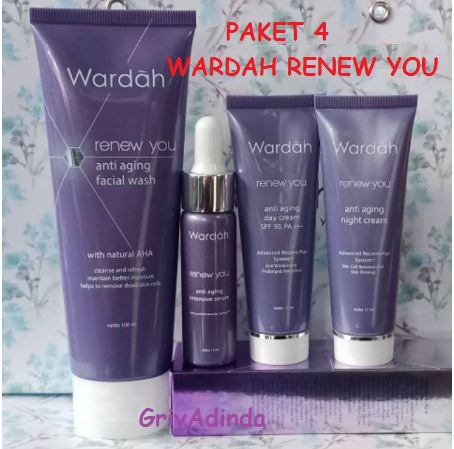 WARDAH RENEW YOU ANTI AGING PAKET 4