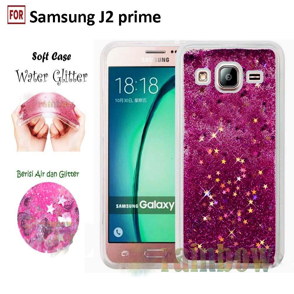 Rp 34.900. Rainbow Samsung Galaxy J2 Prime Soft Case Water Glitter Liquid Series Glowing Star / TPU Silikon ...