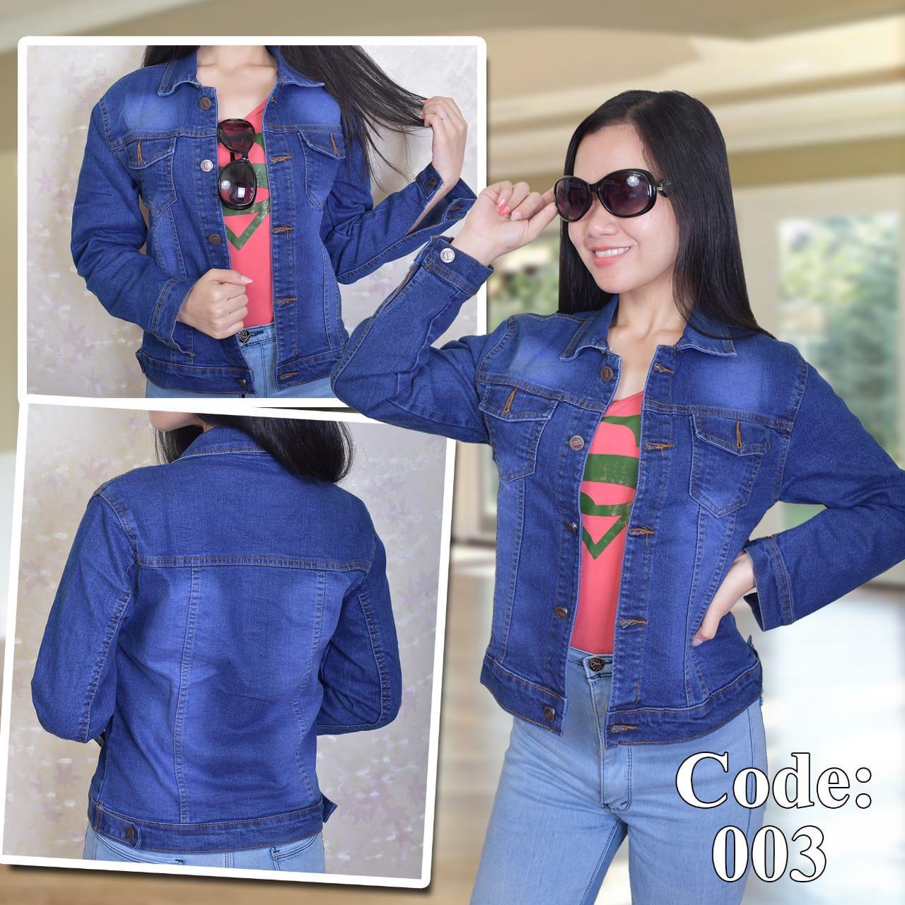 Jaket Jeans Denim Wanita Terbaru 2019 Atasan Wanita Fashion Trendy Oversize Promo By Toko Nusantara--.
