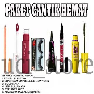 UCIS- PAKET CANTIK MURAH (pa.vva, Lipstik maybeline, bulu mata, lem bulu mata, qicy, mascara maybelline thumbnail