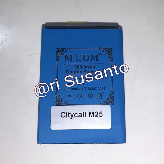 MCOM Baterai Batre Citycall M25 5000Mah Double Power Battery