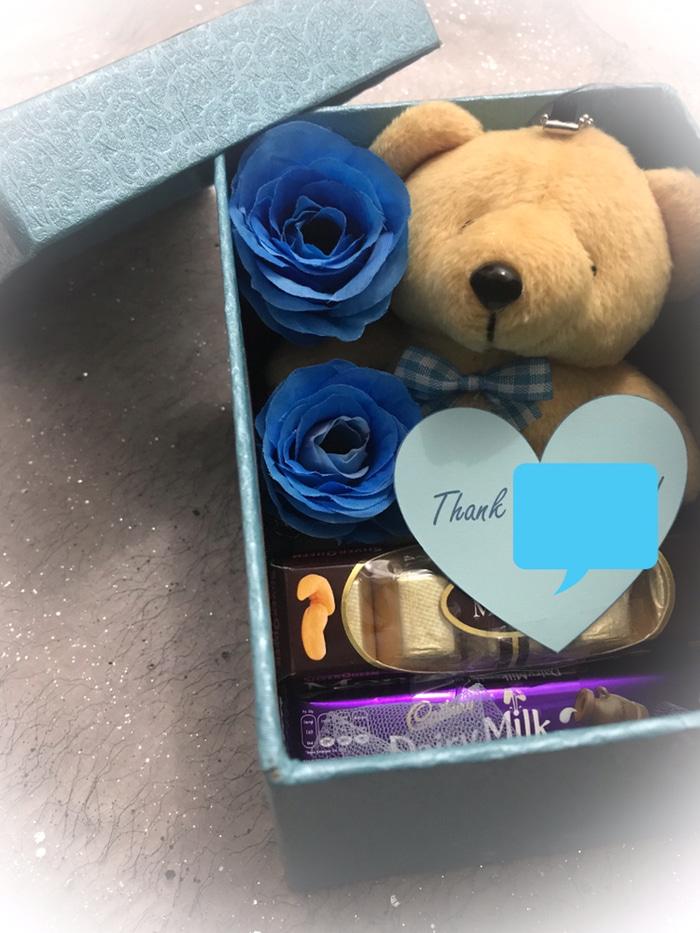 Suprise Box Love Teddy Biru Kado Pacar Cewek Hadiah Ulang Tahun Lazada Indonesia