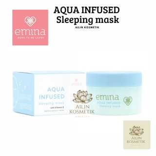 EMINA Aqua Infused Sleeping Mask 30gr Masker Wajah Emina thumbnail