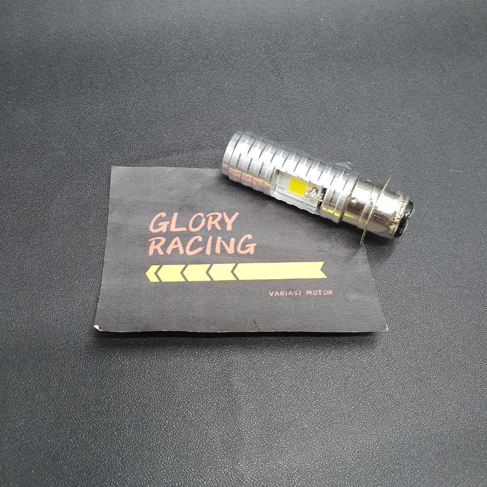 Lampu LED Depan Bebek Matic H6 AC DC putih - Lampu LED Depan