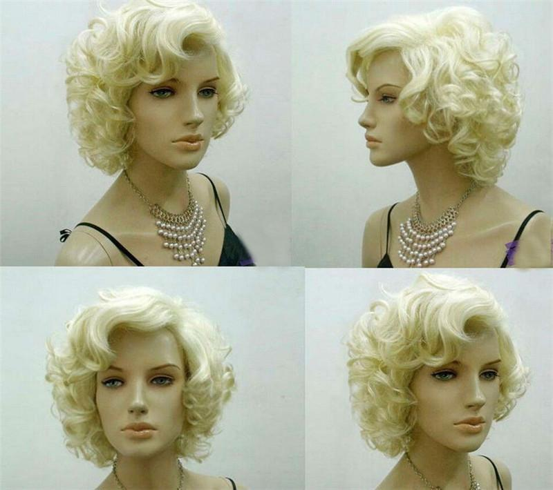 Ebay wish cos Marilyn Monroe short pale gold curly hair wig