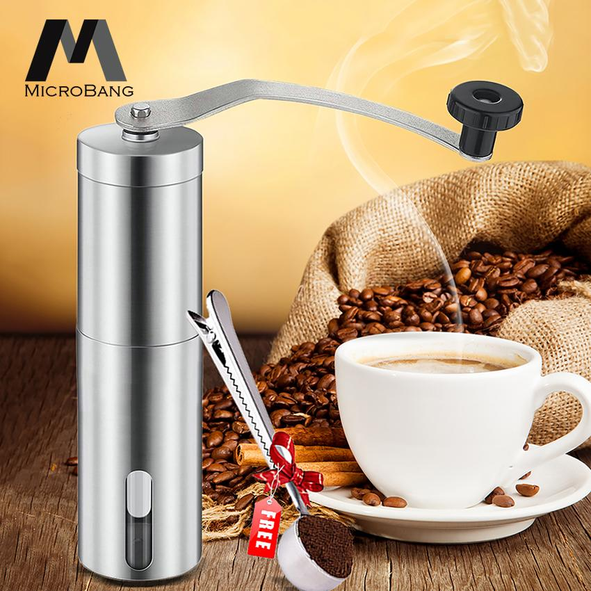 Microbang Manual Coffee Grinder With Hand Crank Conical Burr Mill For Precision Brewing, Spice And Herbs- Comes With Free Scoopfee Grinder With Hand Crank Conical Burr Mill For Precision Brewing, Spice And Herbs- Comes With Free Scoop By Digital Times Square.